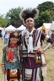 Unidentified Native American family during 40th Annual Thunderbird American Indian Powwow royalty free stock photo