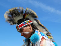 Unidentified Native American at the NYC Pow Wow Royalty Free Stock Images