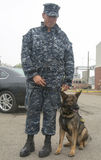 Unidentified navy providing security during Fleet Week 2014 Royalty Free Stock Photos