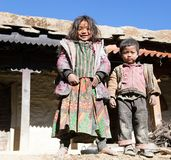 Unidentified nepalese children in western Nepal Royalty Free Stock Photo