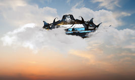 Unidentified object flying in the sky Royalty Free Stock Images