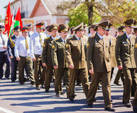 Unidentified officers during the celebration of Victory Day. GOM Royalty Free Stock Photos