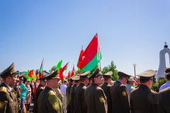 Unidentified officers during the celebration of Victory Day. GOM Stock Images