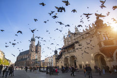 Unidentified participants celebrating National Independence Day an Republic of Poland - is a public holiday,. KRAKOW, POLAND - NOV 11, 2014: Unidentified stock photography