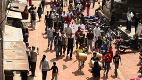 Unidentified participants protest. In KATHMANDU, NEPAL stock footage