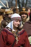 Unidentified participants of Rekawka - Polish tradition, celebrated in Krakow Royalty Free Stock Photos