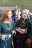 Unidentified participants of Rekawka - Polish tradition, celebrated in Krakow on Tuesday after Easter. Stock Photo
