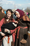Unidentified participants of Rekawka - Polish tradition, celebrated in Krakow on Tuesday after Easter. Royalty Free Stock Photo