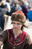 Unidentified participants of Rekawka - Polish tradition, celebrated in Krakow on Tuesday after Easter. Royalty Free Stock Images