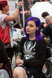 Unidentified participants at 10-th International Tattoo Convention in Congress-EXPO Center. Stock Image