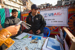 Unidentified participants at World AIDS Day on Durbar Square Stock Images
