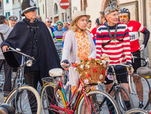 Unidentified partipants of L'Eroica, Italy Stock Photography