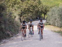 Unidentified partipants of L'Eroica, Italy Royalty Free Stock Images