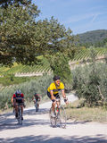 Unidentified partipants of L'Eroica, Italy Royalty Free Stock Photos