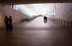 Unidentified passengers at Ben Gurion International Airport. Tel Aviv. Israel Royalty Free Stock Images