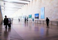 Unidentified passengers at Ben Gurion International Airport. Tel Aviv. Israel Stock Photos
