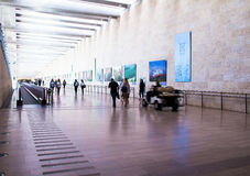 Unidentified passengers at Ben Gurion International Airport. Tel Aviv. Israel Royalty Free Stock Photography