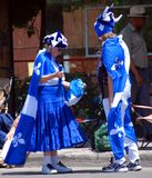 Unidentified people celebrating Quebec`s National Holiday Royalty Free Stock Image
