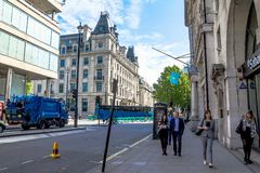 Unidentified people in central of the city at morning time.  London Stock Photos