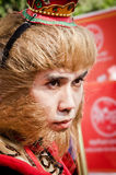 Unidentified people  dress up like Monkey King Stock Photos