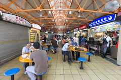 Unidentified people at food court royalty free stock image