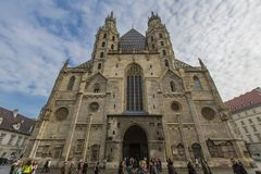 St. Stephen`s Cathedral in Vienna, Austria stock images