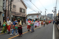 Unidentified people joint to the parade for kawagoe festival, Ja Stock Image