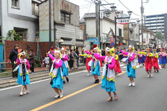 Unidentified people joint to the parade for kawagoe festival, Ja Royalty Free Stock Photos