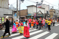 Unidentified people joint to the parade for kawagoe festival, Ja Stock Photos