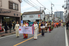 Unidentified people joint to the parade for kawagoe festival, Ja Stock Photography