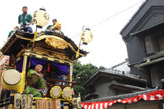 Unidentified people joint to the parade for kawagoe festival on Oct  19 2013 in Kawagoe Royalty Free Stock Image