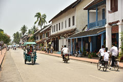 Unidentified people in Luang Prabang Royalty Free Stock Photo