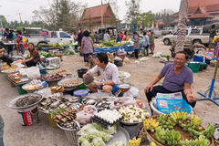 Unidentified people in morning market in Bangkok, Thailand. Royalty Free Stock Photo