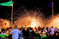 An unidentified people participate in Samed party, on Jan 20, 2014 in Samed , Thailand Stock Photos