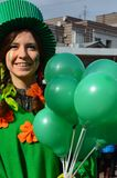 Unidentified people perform at the St. Patrick`s day on March 17, 2014 in Russian stock photo