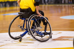 Unidentified People Play A Friendly Game Of Wheelchair Basketball At Nick Galis Stadium Royalty Free Stock Images