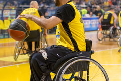 Unidentified People Play A Friendly Game Of Wheelchair Basketball At Nick Galis Stadium Royalty Free Stock Photography