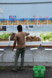 Unidentified people shop at a grocery shop in Little India, Sing Royalty Free Stock Photography