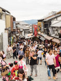 Unidentified people sightsee Kiyomizu area Royalty Free Stock Photography