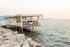 Sapanca lake,a popular destination for locals and tourists.Kocaeli.Turkey. Unidentified people spending time at Sapanca lake,a popular destination for locals and Royalty Free Stock Photo