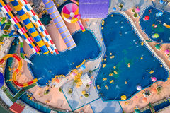 The unidentified people in Splash Fun water park in Phitsanulok Stock Photography