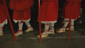 Unidentified people taking part in Holy Week Processions. stock video footage