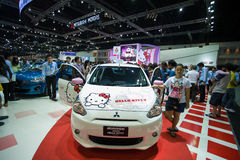 8abf1a3d4 Mitsubishi Mirage meets hello kitty at The 30th Thailand International  Motor Expo on December 3, 2013 in Bangkok, Thailand · Unidentified people  test over ...