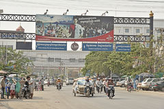 Unidentified people in the Thai-Cambodian border Stock Photo