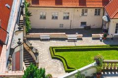 Unidentified people visit famous  garden in prague castle, Czech Republic Stock Photography