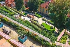 Unidentified people visit famous  garden in prague castle, Czech Republic Royalty Free Stock Photos