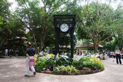 Unidentified people walk through the Singapore Botanic Gardens Stock Photos