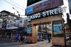 Unidentified people on a Walking Street in Pattaya Royalty Free Stock Photos