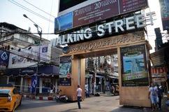 Unidentified people on a Walking Street in Pattaya Stock Photo
