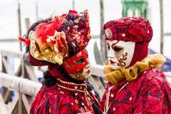 Den Venetian karnevalet maskerar Royaltyfria Foton